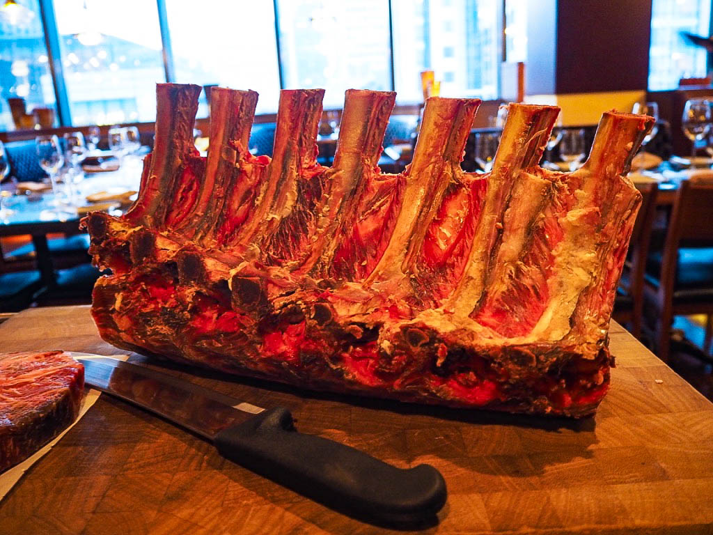 Beef ribs at The 1515 West Chophouse and Bar in the Shangri-La hotel, Shanghai
