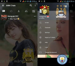 BBM Change Background with Man City