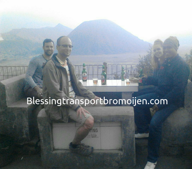 Mr.Marton Nagy (NL) and friends with our driver Taufik, transport for Surabaya-Bromo-Ijen. August 5th to 8th, 2016.