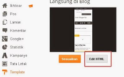 Cara Me-reset Template Blog dengan Kode HTML by Rizky Probo