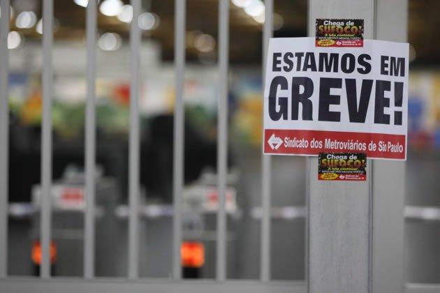 GREVE: Metrô de SP entrará em greve no dia 5 de Fevereiro