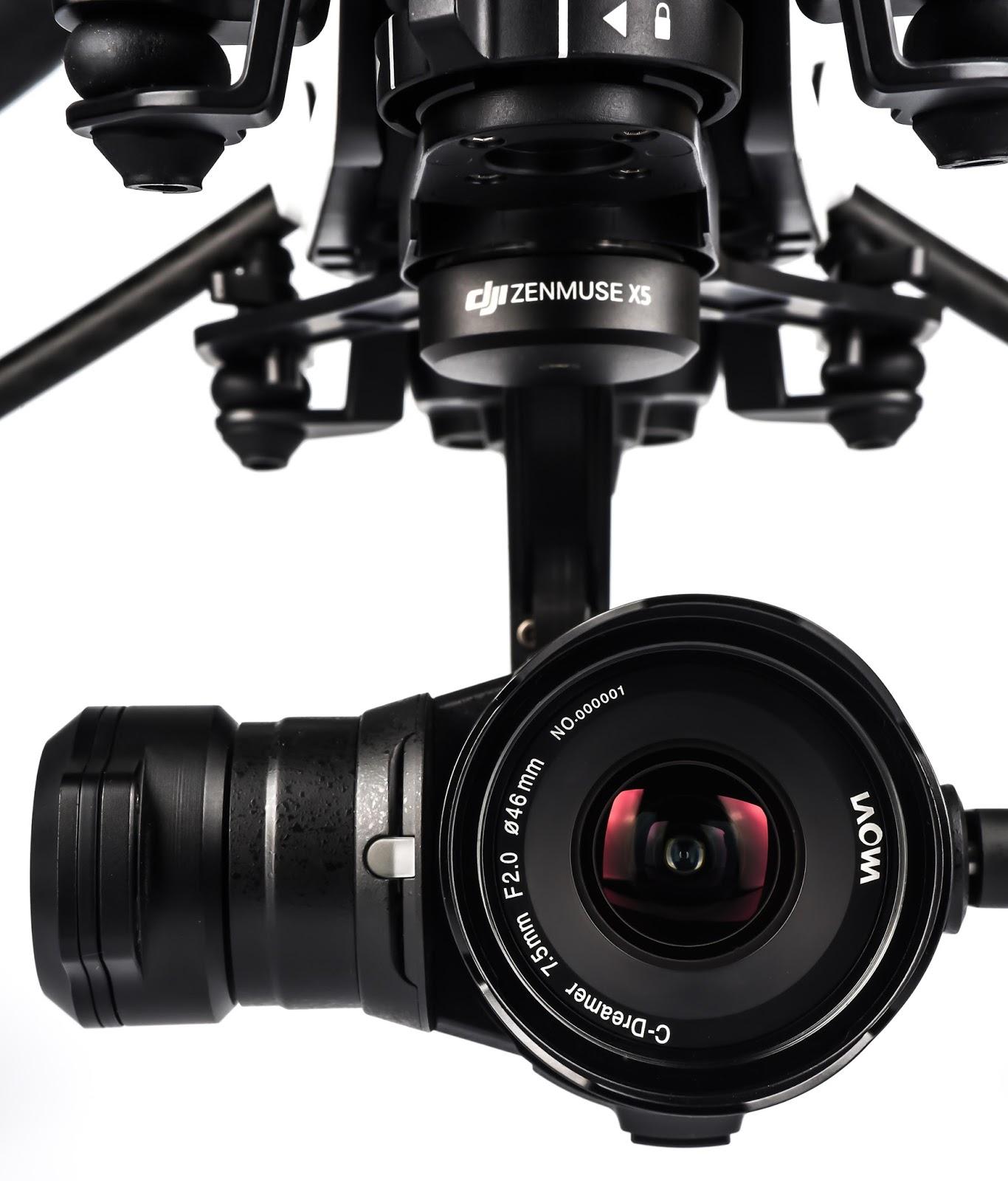 Laowa 7.5mm f/2.0 на камере DJI X5, установленной на дроне