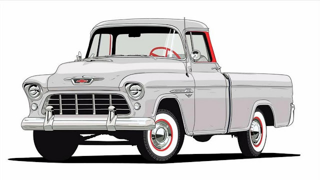 1955 3124 Series Cameo Carrier Chevrolet Trucks 100th Anniversary
