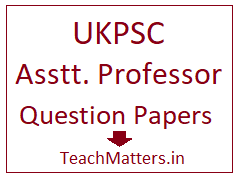 image : UKPSC College Lecturer Question Papers Download pdf @ TeachMatters