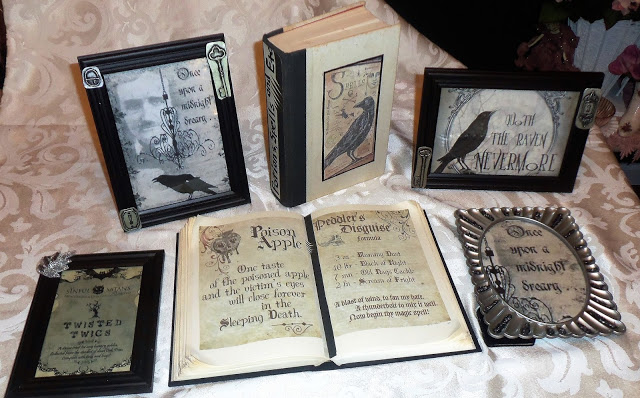 Halloween Potion Books and Framed Graphics