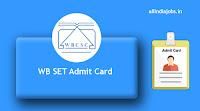 WB SET Admit Card