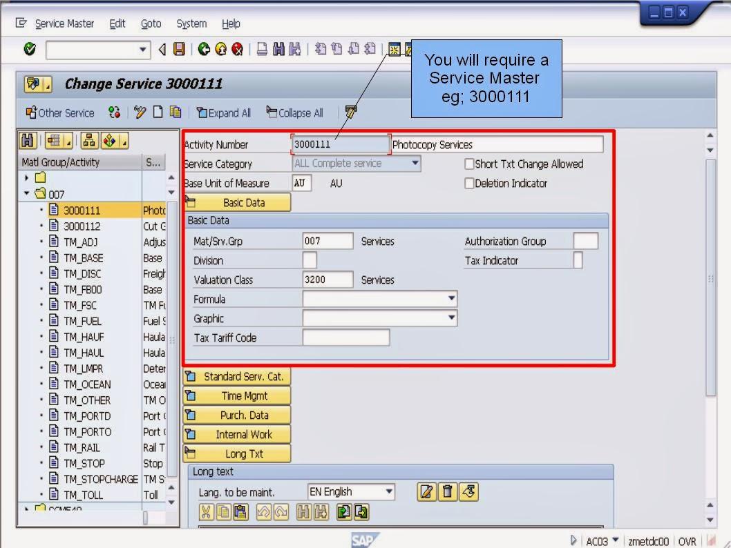 青蛙SAP分享 Learning & Examination: PM Service Procurement