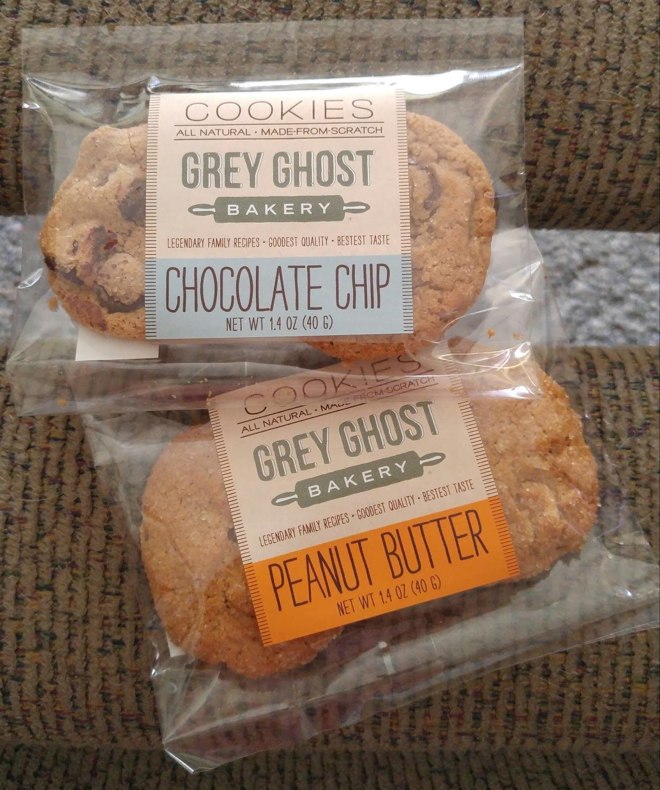 Grey Ghost Chocolate Chip Cookies