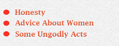 Advice about women and some ungodly acts