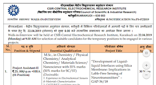 CECRI Project Assistant Interview Questions - Previous Papers Download & Syllabus 2019