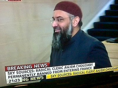 Anjem Choudary banned in France
