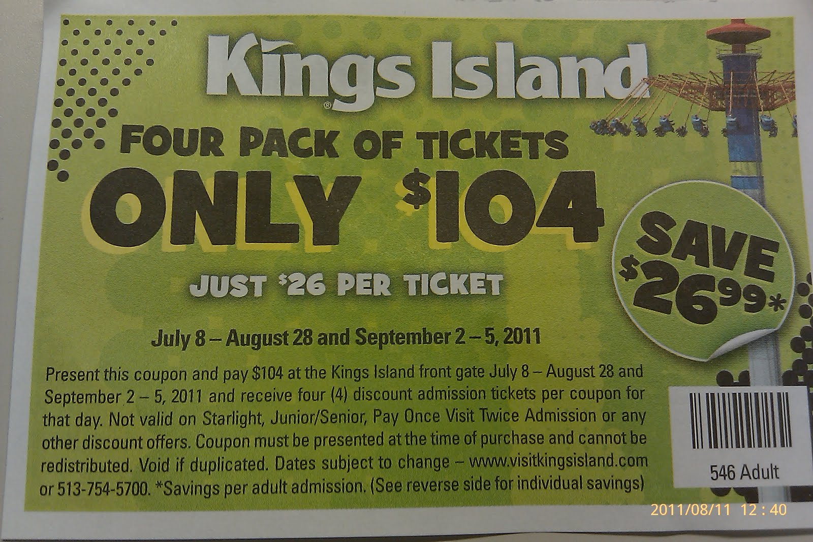 View Season Pass and single day ticket options for the perfect ticket package. Browse various park packages and see what fits best! Buy Kings Island tickets! Skip to Main Content. Kings Island Tickets and Season Passes. Close. Winterfest ; WinterFest Tickets As Low As $ Exclusive benefits and discounts. The best way to experience.