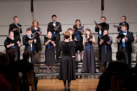 Julia Davids conducts the North Park University Chamber Singers