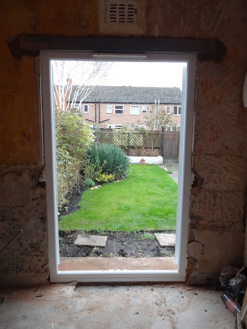 Picture Window in French Doors