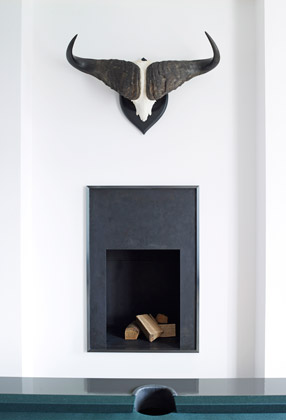 Modern luxury fireplace minimal sophisticated interior design by Piet Boon