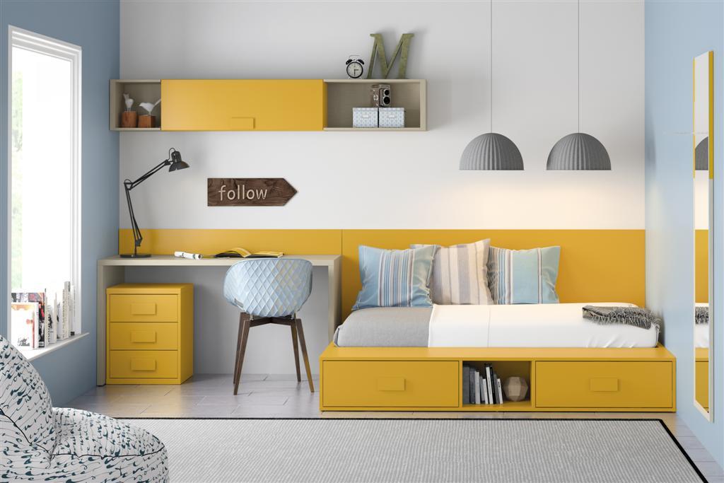 Design de quartos modernos para jovens decora o e ideias for Habitaciones juveniles cama 105