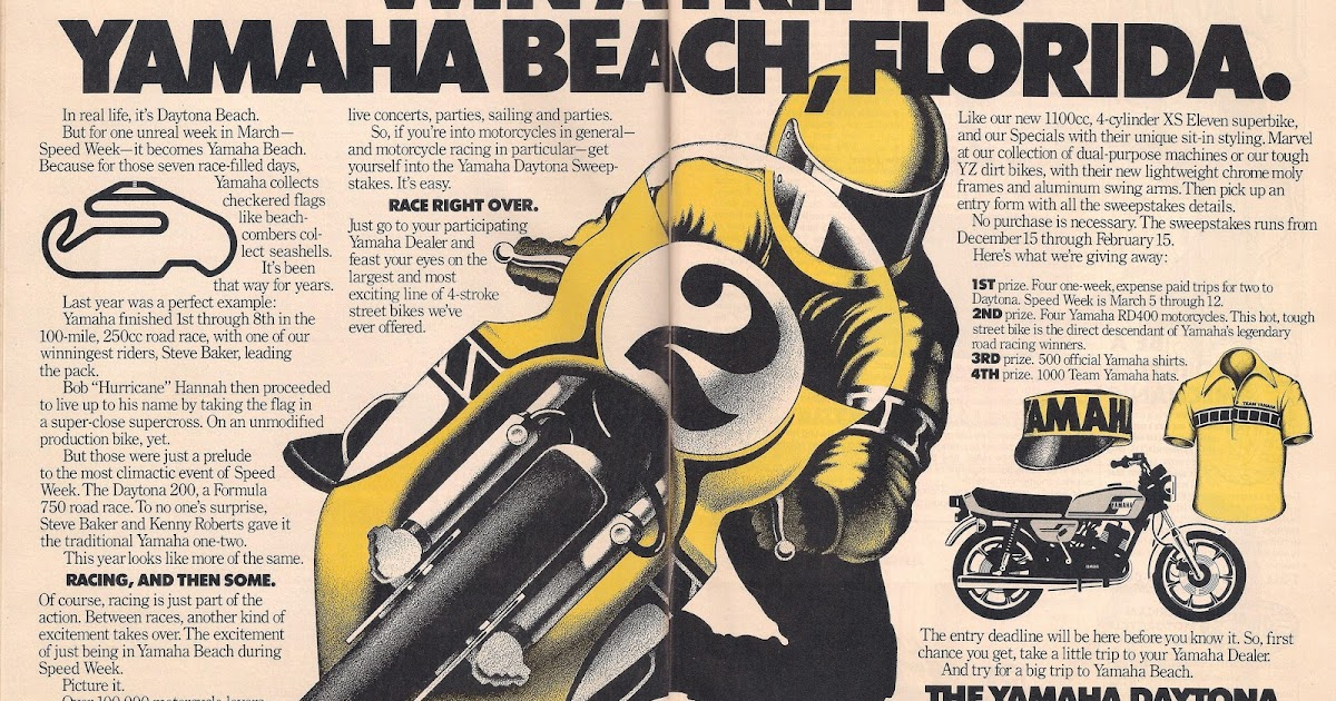 Racing Caf Vintage Brochures Yamaha 1978 Usa