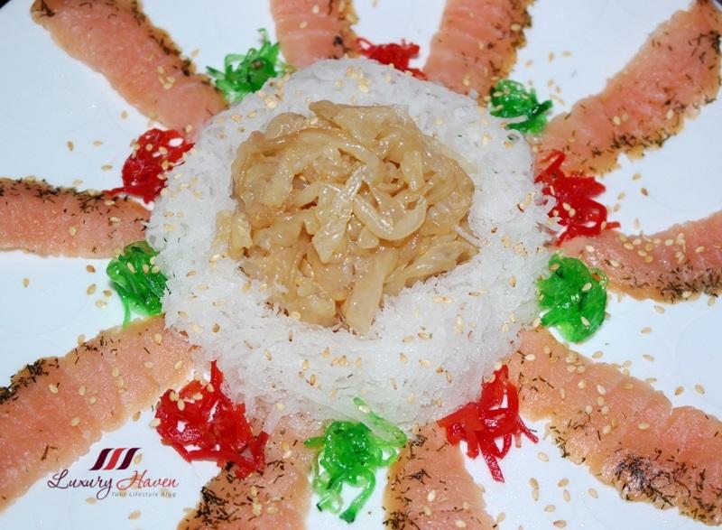 cny fassler smoked salmon yusheng with jellyfish