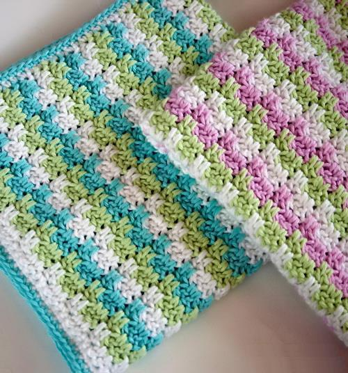 Crochet free pattern and Tutorial blanket, Interlocking-block crochet stitch