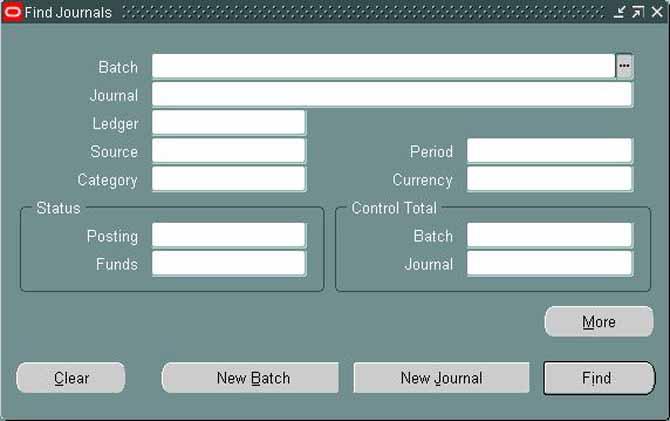 User Manual - Oracle General Ledger