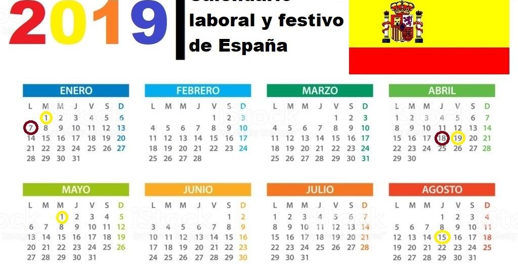 Calendario Panama 2019 Con Festivos.Calendario 2019 Con Festivos Espana