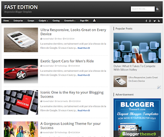 Fast Edition Blogger Template