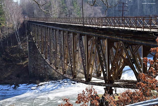 Most kolejowy Pilchowice niedaleko zapory