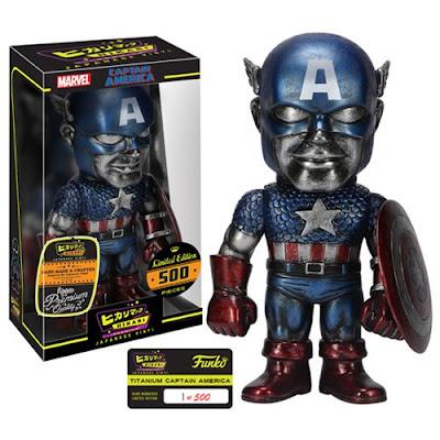 """Marvel """"Titanium"""" Captain America Marvel Premium Hikari Sofubi Vinyl Figure by Funko"""