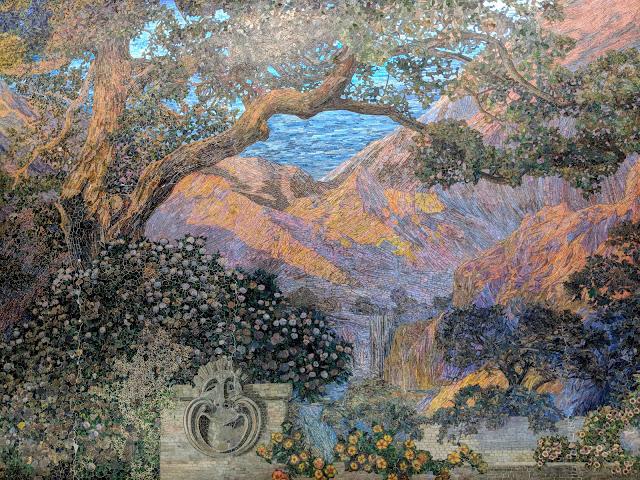 Сад Мрій - одна з найбільших у світі мозаїк зі скла. Філадельфія. Пенсильванія (The Dream Garden. Philadelphia. PA)
