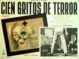 Cartel de cine - Cien gritos de terror - Cine clásico mexicano