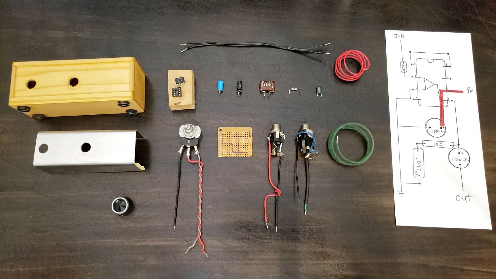 10 ohm resistor 1 2 watt rating 220uf capacitor electrolytic 16v 100uf capacitor electrolytic 16v 047 capacitor film type 16v or higher depending on  [ 1600 x 900 Pixel ]