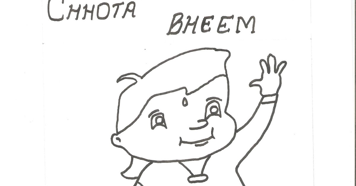 Coloring pictures for children: Colouring page of chota bheem