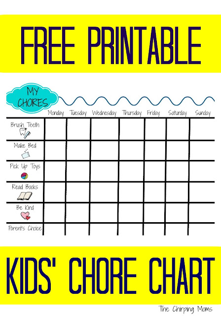Printable Chore Chart for Kids || The Chirping Moms #ChoreChart