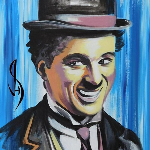 11-Charlie-Chaplin-Jonathan-Harris-Celebrity-Paintings-Images-and-Videos-www-designstack-co