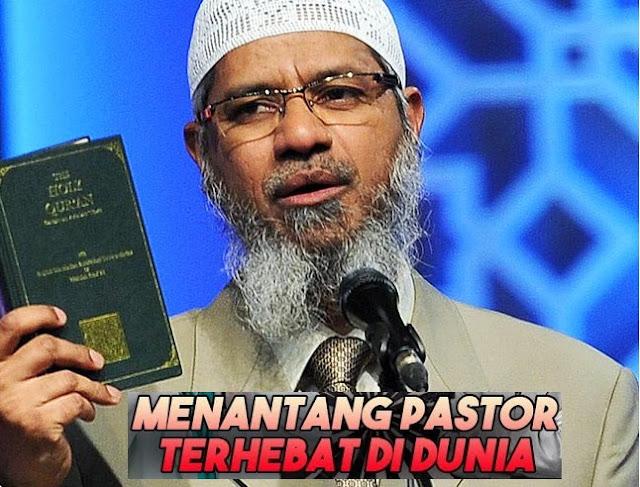 Debat Islam vs Kristen: Video Dr Zakir Naik Menantang Pastor Tertinggi Bedah Injil