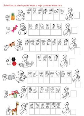 Substitua os sinais pelas letras e veja quantas letras tem