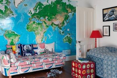 tapet världskarta barnrum barntapet fototapet barn