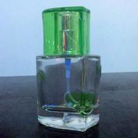 botol parfum unik bentuk hati warna hijau
