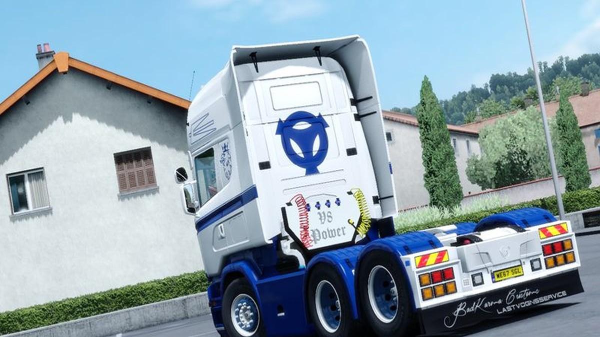 White Blue Skin for Scania RJL