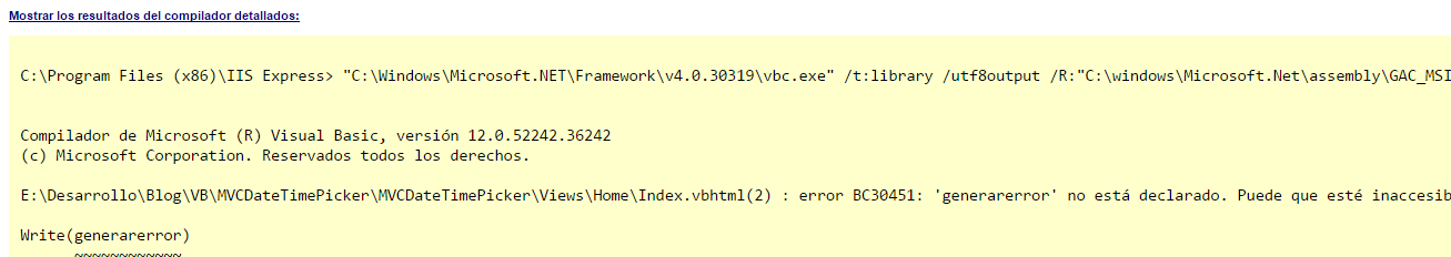 Mensaje de compilador VB