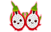 dragon fruit cartoon clipart