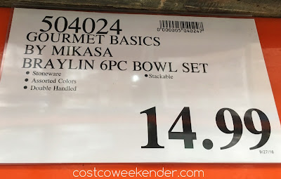 Deal for the Gourmet Basics by Mikasa Braylin Stackable Stoneware Bowls at Costco
