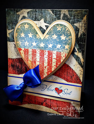 Stamps - Our Daily Bread Designs Heart and Soul, Old Flag Background, ODBD Custom Ornate Hearts Dies