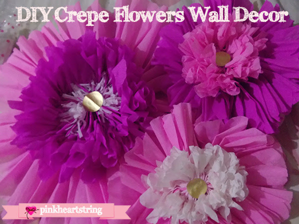 DIY Crepe Paper Wall Flower Decors
