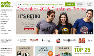 free CafePress coupons for december 2016