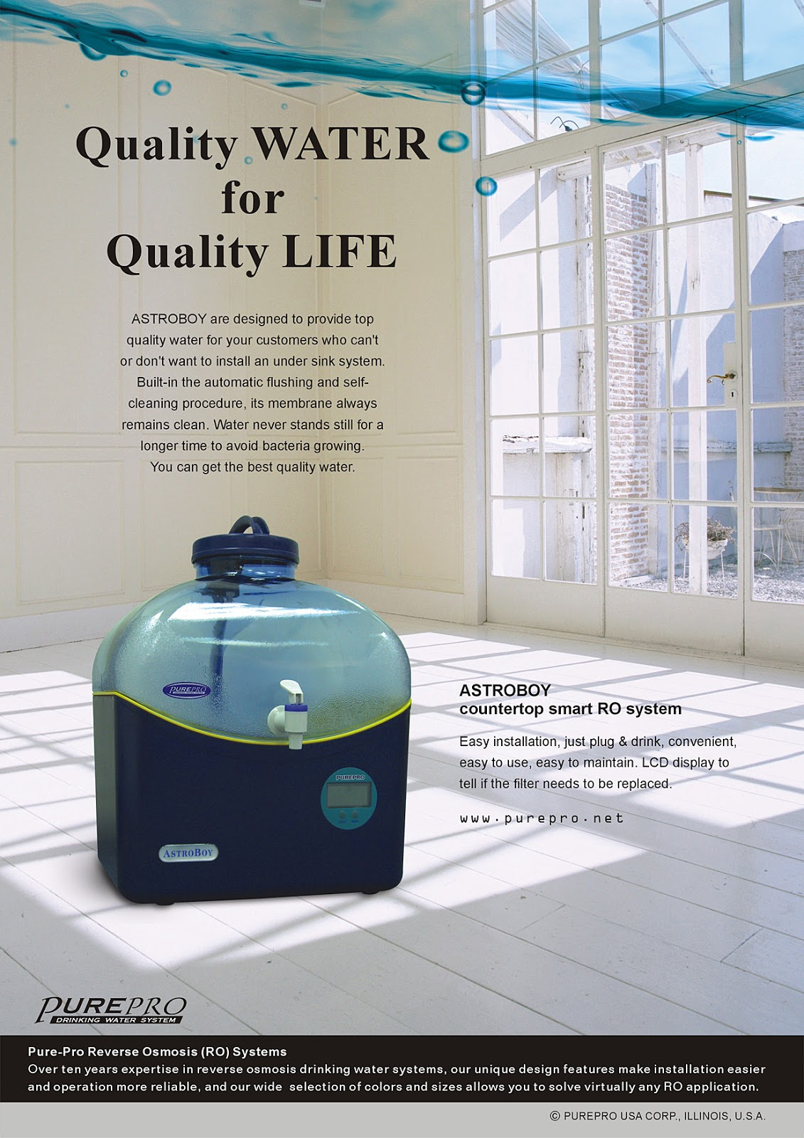 PurePro® Astroboy Reverse Osmosis Water Filter System