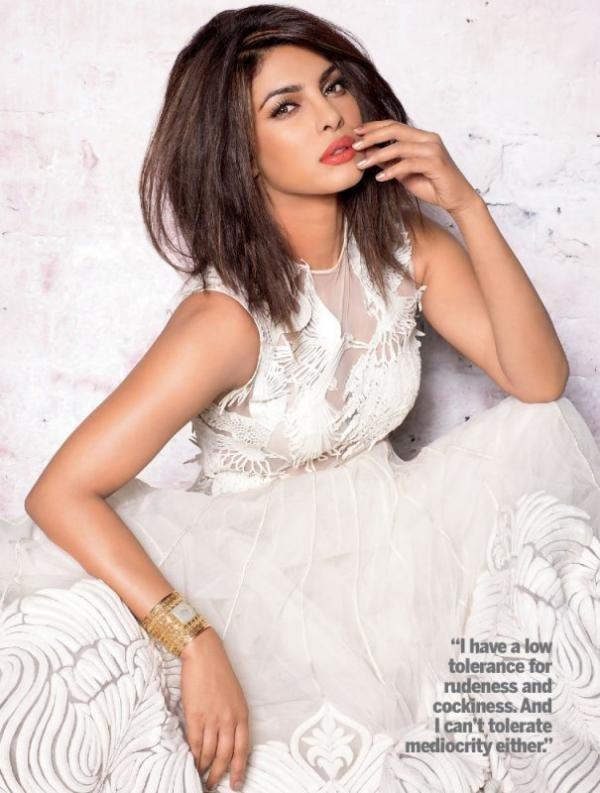 Priyanka Chopra Hot Photoshoot in White Dress