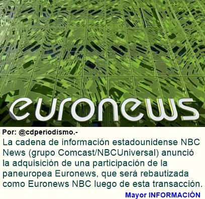 NBC News compra Euronews