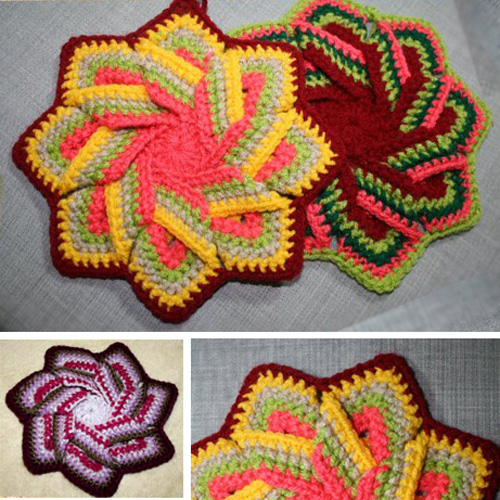 Crochet Swirl Pot Holder - Tutorial