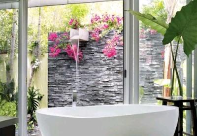 desain kamar mandi modern dengan konsep alami